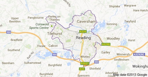 Map Of Reading Area Uk.Reading